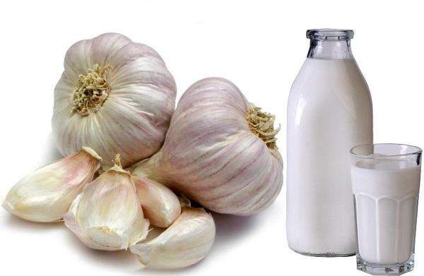 молоко с чесноком от глистов