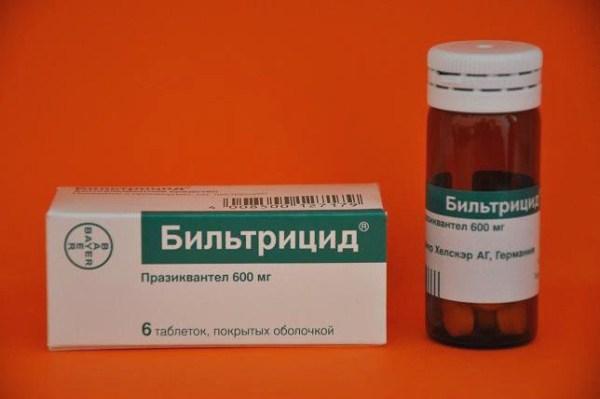 для лечения описторхоза применяют бильтрицид